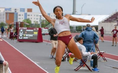 National heptathlete Tyra Gittens jumps to history at Texas meet