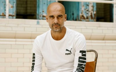 Pep Guardiola Officially Signs With PUMA